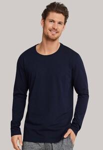 Schiesser Mix & Relax Cotton T-Shirt Ronde Hals Donker Blauw