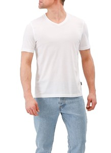Maerz V-Neck Uni Shirt Pure White