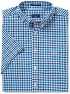 Gant The Broadcloth 3 Color Gingham Delft Blue