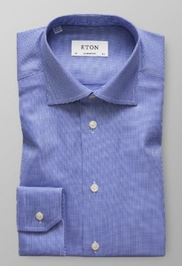 Eton Textured Twill Donker Blauw
