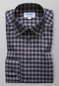 Eton Check Flannel Shirt Bruin