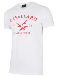 Cavallaro Napoli Gabbiani Tee Rood