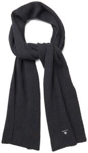 Gant Wool Knit Scarf Zwart