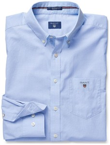 Gant Fitted Uni Popeline Shirt Hamptons Blue