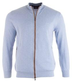 Paul & Shark Alcantara Contrasted Cotton Vest Cardigan Light Blue