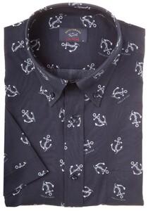Paul & Shark Anchor Shark Shirt Overhemd Navy
