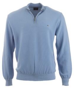Paul & Shark Barley Grain Zipper Pullover Light Blue