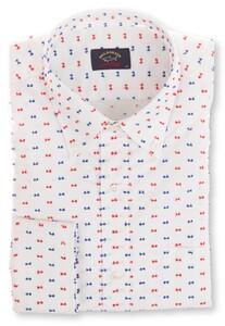 Paul & Shark Bow-Tie Weave Overhemd Wit