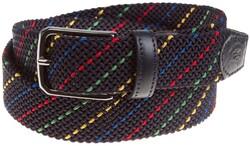 Paul & Shark Braided Rainbow Belt Riem Multicolor