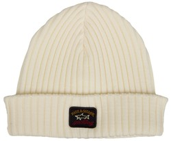 Paul & Shark Bretagne Plain Knitted Cap Cap / Beanie Off White