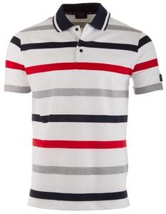 Paul & Shark Classic Yachting Stripe Poloshirt White-Red