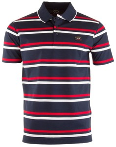 Paul & Shark Double Stripe Polo Poloshirt Navy