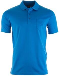 Paul & Shark Egyptian Mercerized Cotton Breast Pocket Polo Poloshirt Aqua