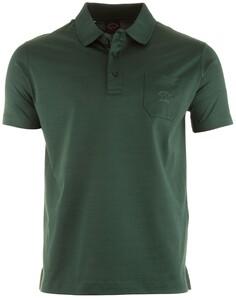Paul & Shark Egyptian Mercerized Cotton Breast Pocket Polo Poloshirt Green