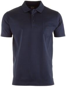 Paul & Shark Egyptian Mercerized Cotton Breast Pocket Polo Poloshirt Navy