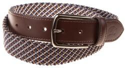 Paul & Shark Fine Braided Blue-Brown Belt Riem Blauw-Bruin