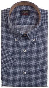 Paul & Shark Fine Floral Pattern Shirt Blue