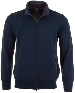 Paul & Shark Fine Line Alcantara Contrast Vest Royal Blue