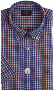 Paul & Shark Fine Multicolored Check Overhemd Navy