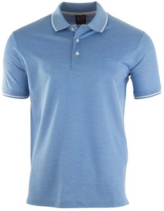 Paul & Shark Fine Piqué Summer Polo Polo Licht Blauw