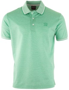 Paul & Shark Fine Piqué Summer Polo Polo Licht Groen