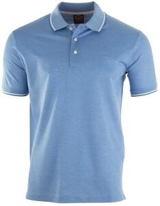 Paul & Shark Fine Piqué Summer Polo Poloshirt Light Blue