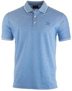 Paul & Shark Fine Structure Plain Polo Aqua