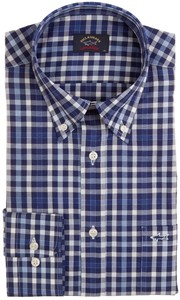 Paul & Shark Fine Weave Check Overhemd Blauw