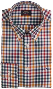 Paul & Shark Fine Weave Check Overhemd Multicolor