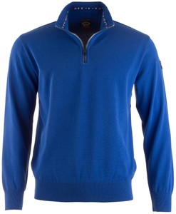 Paul & Shark Flag Collar Pullover Mid Blue