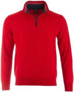 Paul & Shark Flag Collar Pullover Red