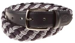 Paul & Shark Heavy Braided Stretch Belt Riem Navy