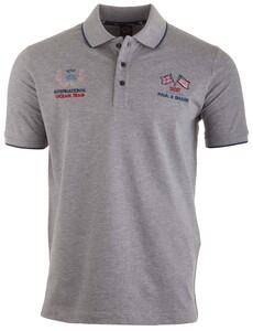 Paul & Shark International Ocean Team Logo Polo Poloshirt Grey