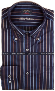 Paul & Shark Luxurious Colored Stripes Overhemd Multicolor