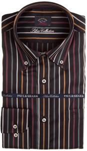 Paul & Shark Luxurious Colored Stripes Overhemd Sunset