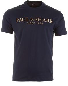 Paul & Shark Luxury Embroidery T-Shirt Navy
