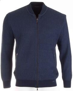 Paul & Shark Luxury Knit Blouson Cardigan Blue
