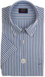 Paul & Shark Luxury Multi Stripe Overhemd Wit