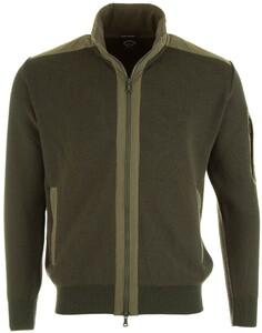 Paul & Shark Maritime Knit Zipper Cardigan Green