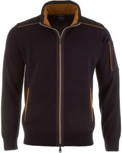 Paul & Shark Maritime Knit Zipper Vest Navy