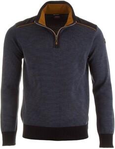 Paul & Shark Maritime Zipper Pullover Mid Blue