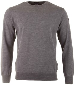 Paul & Shark Merino Roundneck Pullover Mid Grey