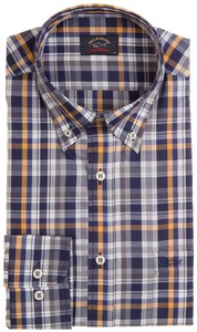 Paul & Shark Multi-layer Check Overhemd Blauw