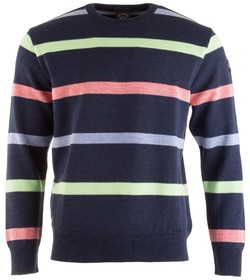 Paul & Shark Multicolor Barley Grain Stripe Pullover Multicolor