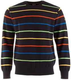 Paul & Shark Multicolor Barley Grain Stripe Trui Multicolor