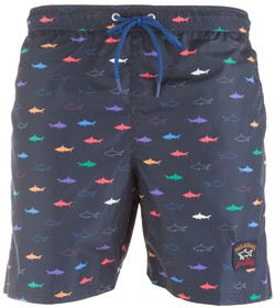 Paul & Shark Multicolor Shark Pattern Shorts Swim Short Multicolor