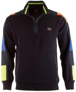 Paul & Shark Multicolor Sleeve Contrast Pullover Navy