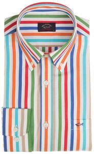 Paul & Shark Multicolor Wide Stripe Shirt Multicolor
