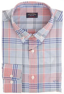 Paul & Shark New Style Check Overhemd Blauw-Rood