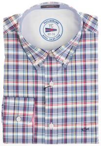 Paul & Shark NY74 Royal Yacht Club Check Overhemd Licht Blauw